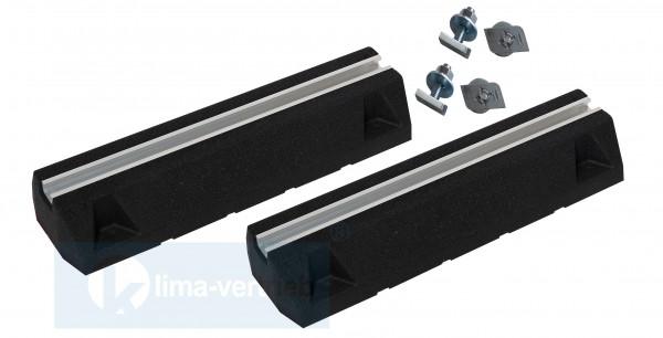 BKLline Dämpfungssockel Aufstellbalken 600mm Set 2 Stück mit Schrauben