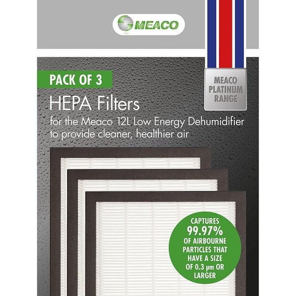 Meaco Hepa Filter Platinum 12L Set 3 Stück