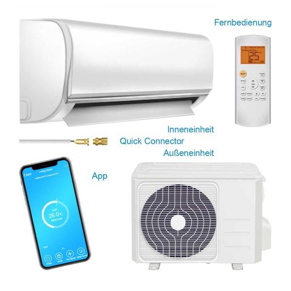 COMFEE MSAF5-09HRDN8-QE SET WiFi Klimagerät mit Schnellkupplung R32