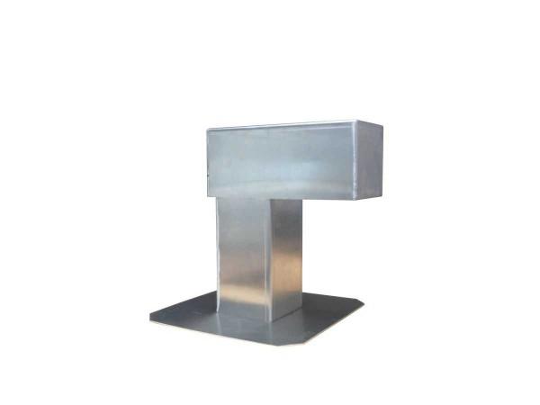 Flachdach Dachdurchführung Klima Aluminium 120mm