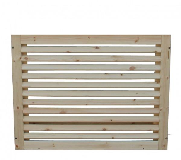 Sichtschutzverkleidung Holz Größe 2 Rückseite zur freien Aufstellung